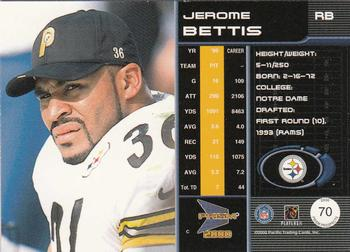 2000 Pacific Prism Prospects #70 Jerome Bettis Back