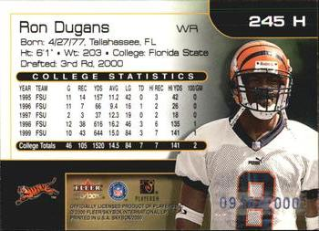 2000 SkyBox #245H Ron Dugans Back
