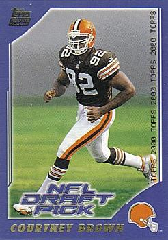 2000 Topps #373 Courtney Brown Front