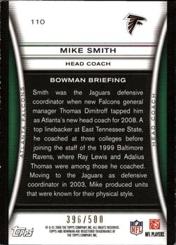 2008 Bowman - Blue #110 Mike Smith Back