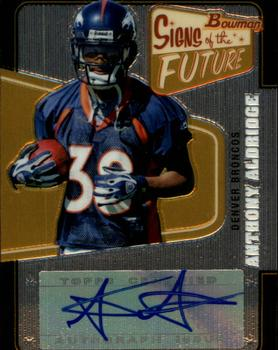 2008 Bowman - Signs of the Future #SF-AAL Anthony Alridge Front