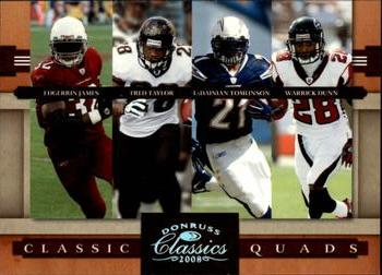 2008 Donruss Classics - Classic Quads Silver Holofoil #5 Edgerrin James / Fred Taylor / LaDainian Tomlinson / Warrick Dunn Front