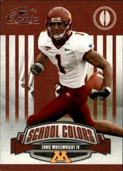 2008 Donruss Classics - School Colors #15 Ernie Wheelwright Front