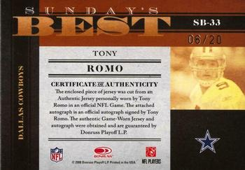official photos 1673a 606b4 Tony Romo Gallery | The Trading Card Database