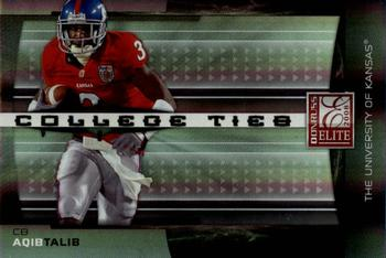 2008 Donruss Elite - College Ties Black #CT-11 Aqib Talib Front