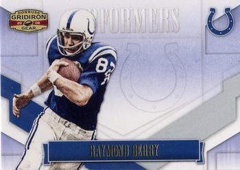 2008 Donruss Gridiron Gear - Performers Gold #P-38 Raymond Berry Front
