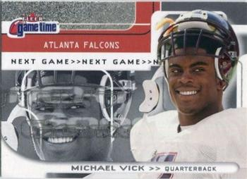 2001 Fleer Game Time #111 Michael Vick Front