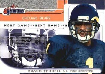 2001 Fleer Game Time #112 David Terrell Front