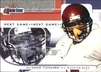 2001 Fleer Game Time #122 Ja'Mar Toombs Front