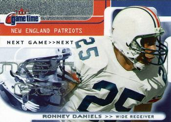 2001 Fleer Game Time #124 Ronney Daniels Front