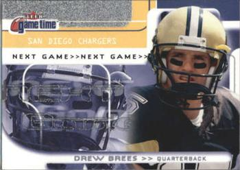 2001 Fleer Game Time #125 Drew Brees Front