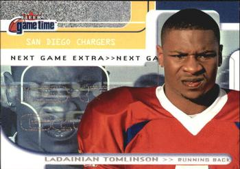 2001 Fleer Game Time #128 LaDainian Tomlinson Front