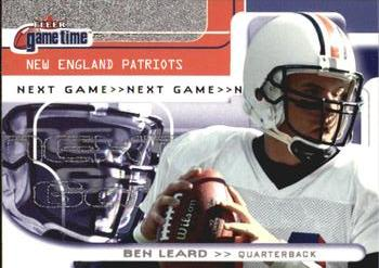 2001 Fleer Game Time #133 Ben Leard Front