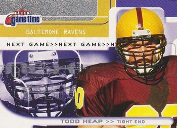 2001 Fleer Game Time #142 Todd Heap Front