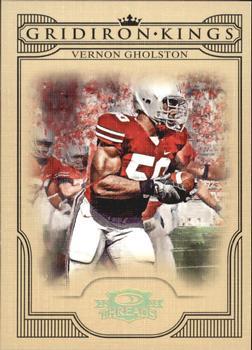 2008 Press Pass Gridiron Gamers Jerseys Gold #GGVG Vernon Gholston Jersey //100