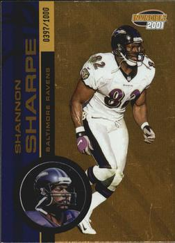2001 Pacific Invincible #21 Shannon Sharpe Front