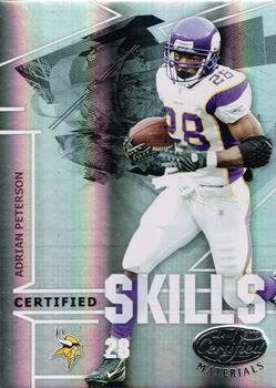 2008 Leaf Certified Materials - Certified Skills Mirror #CS-1 Adrian Peterson Front