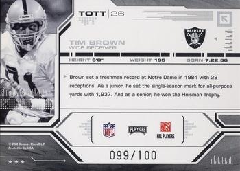 2008 Playoff Absolute Memorabilia - Tools of the Trade Red Spectrum #TOTT 26 Tim Brown Back