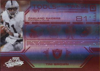 2008 Playoff Absolute Memorabilia - Tools of the Trade Red Spectrum #TOTT 26 Tim Brown Front
