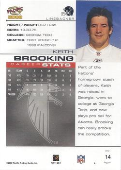 2002 Pacific #14 Keith Brooking Back