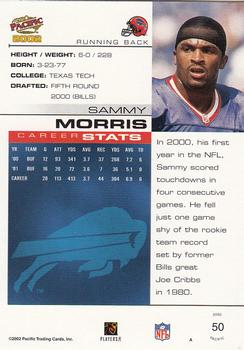 2002 Pacific #50 Sammy Morris Back