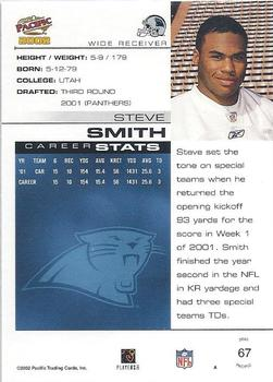 2002 Pacific #67 Steve Smith Back
