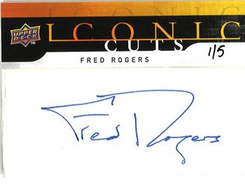2008 Upper Deck - Mystery Iconic Cuts Redemption #IC69 Fred Rogers Front
