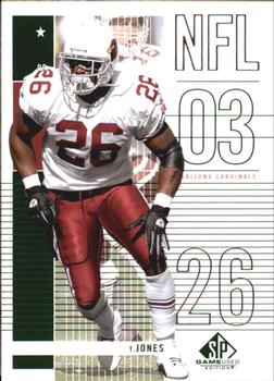 2003 SP Game Used #37 Thomas Jones Front