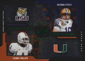 2008 Upper Deck Draft Edition #19 Craig Steltz RC rookie LSU TIGERS