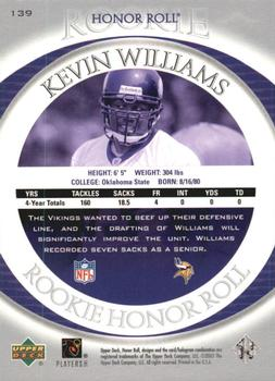2003 Upper Deck Honor Roll #139 Kevin Williams Back