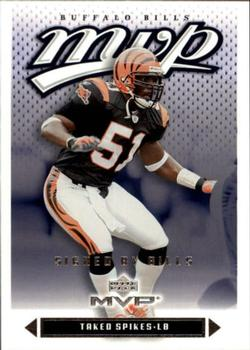 2003 Upper Deck MVP #201 Takeo Spikes Front