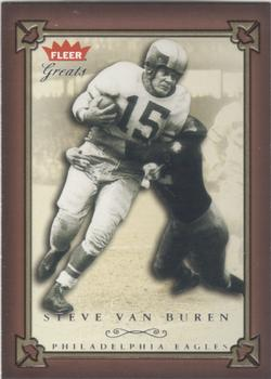 2004 Fleer Greats of the Game #34 Steve Van Buren Front