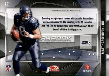 2009 Donruss Gridiron Gear - Playbook Silver #12 Matt Hasselbeck Back