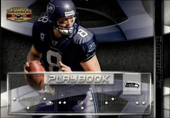 2009 Donruss Gridiron Gear - Playbook Silver #12 Matt Hasselbeck Front