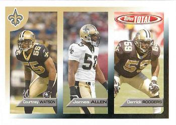 2005 Topps Total #438 Courtney Watson / Derrick Rodgers / James Allen Front