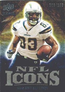 2009 Upper Deck Icons - NFL Icons Gold #IC-VJ Vincent Jackson Front