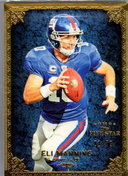 2010 Topps Five Star #12 Eli Manning Front