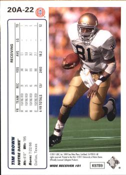 2011 Upper Deck - 20th Anniversary #20A-22 Tim Brown Back