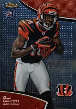 2011 Finest #21 A.J. Green Front