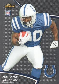 2011 Finest #82 Delone Carter Front