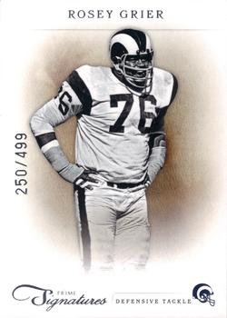 2011 Panini Prime Signatures #150 Rosey Grier Front
