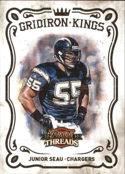 2010 Panini Threads - Gridiron Kings #19 Junior Seau  Front