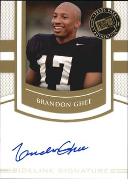 2010 Press Pass PE - Sideline Signatures Gold #SSBG Brandon Ghee  Front