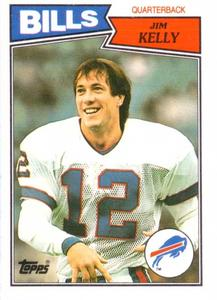 1987 Topps American/UK #72 Jim Kelly Front