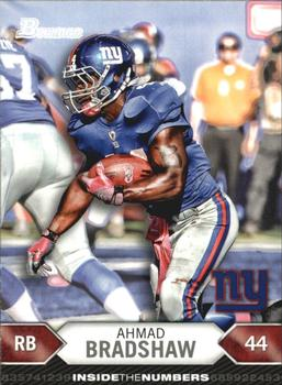 2012 Bowman - Inside the Numbers #ITN-AB Ahmad Bradshaw Front