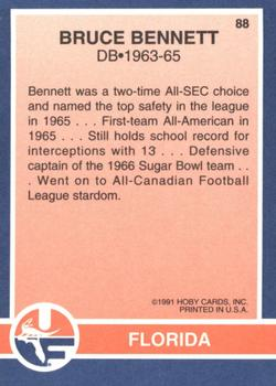 1991 Hoby Stars of the SEC #88 Bruce Bennett Back