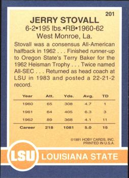 1991 Hoby Stars of the SEC #201 Jerry Stovall Back