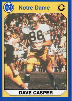 TOM GIBBONS #9 1990 Collegiate Collection Notre Dame Fighting Irish