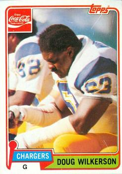 1981 Topps Coca-Cola San Diego Chargers #9 Doug Wilkerson Front