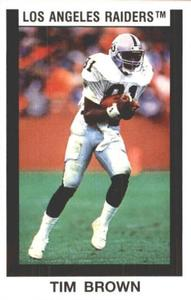 1989 Panini Stickers #319 Tim Brown Front